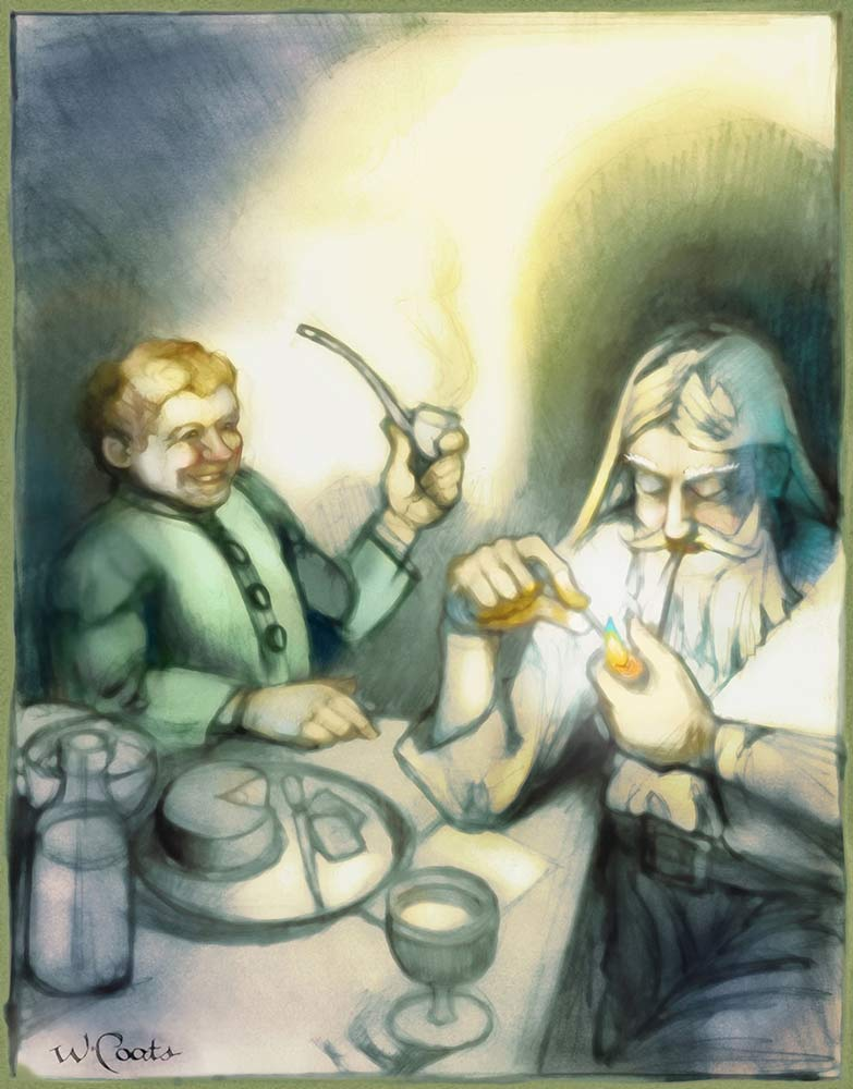 Old Toby Bilbo and Gandalf having a smoke after supper.