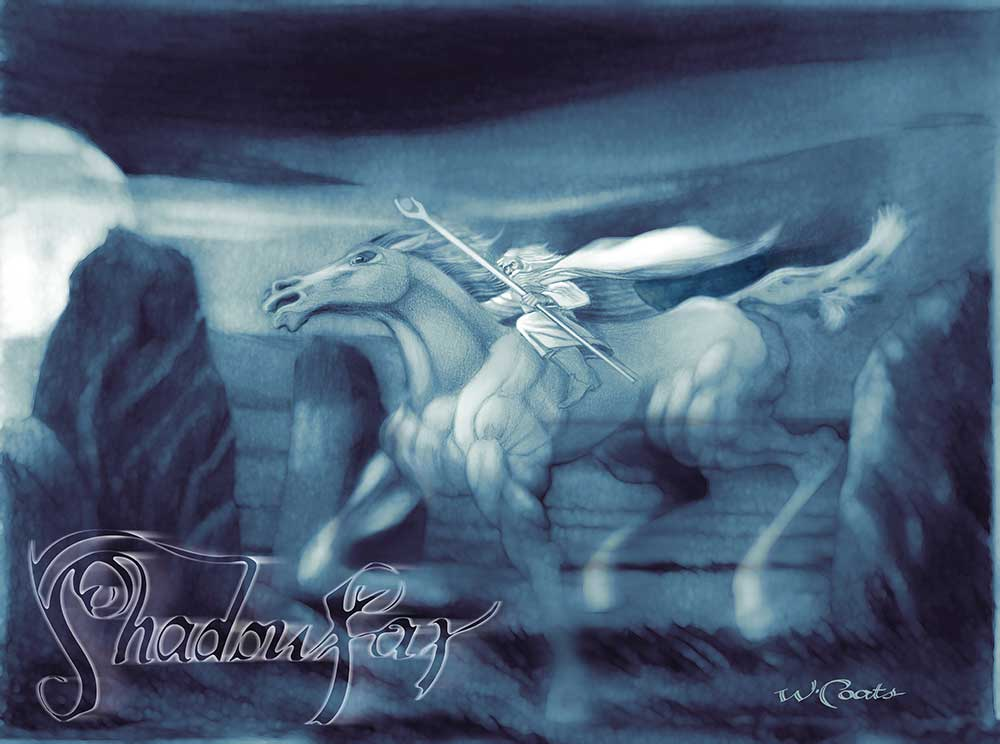 "Shadowfax was ""the Lord of all horses"". the greatest horses of Middle-earth. Shadowfax was capable of comprehending human speech and was said to run faster than the wind."
